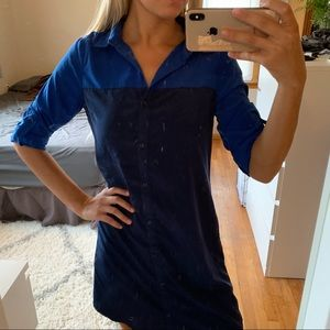 2/$10 ⭐️Button-Up Tshirt Dress Navy and Royal Blue